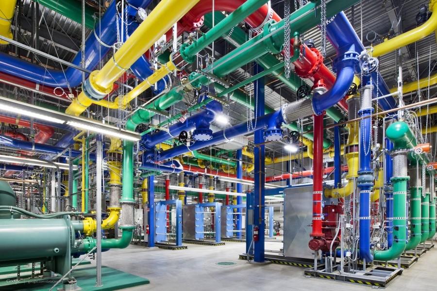 نمایی از درون مرکز داده گوگل